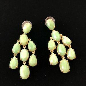 Stella & Dot Lily Green Gold Drop Dangle Earrings